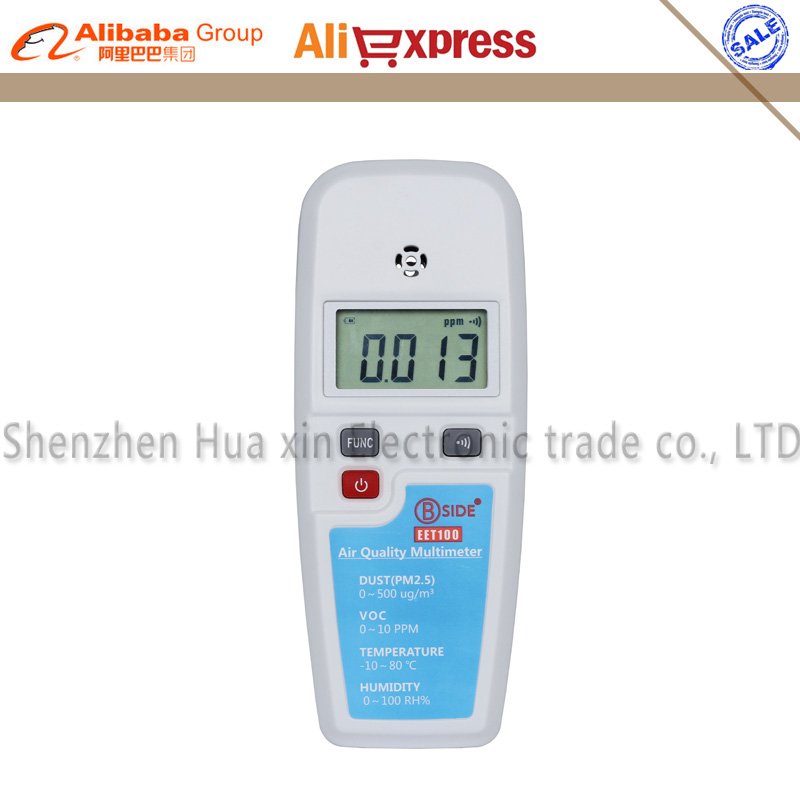 Portable Multifunctional Air Quality Detector Haze Dust ( PM2.5 ) VOC Temperature Humidity Atmosphere Environment Analyzer