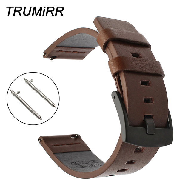 22mm Italy Genuine Leather Watchband for Moto 360 2 46mm Men Ticwatch 1 Gear 2 N