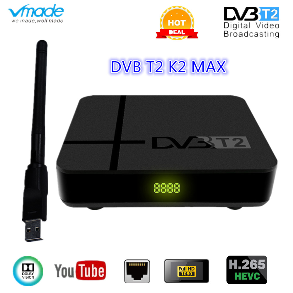 Newest DVB T2 HD 1080P Terrestrial Receiver DVB T2 TV Tuner DVB T2 H.265 Support Dobly AC-3 With Usb Wifi DVB T2 Set Top Box