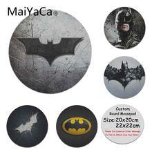 MaiYaCa мои любимые логотип БЭТМЭН силиконовый коврик для мышки игры Индивидуальные коврики для мышки для ноутбука коврик для мышки в стиле аниме