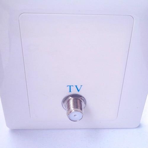 1pcs Cable digital satellite TV terminal box single panel Multimedia terminal head type f female metric imperial
