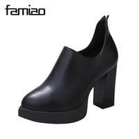 FAMIAO Frauen schuhe Frauen super High heels Keile Plattform Damen Partei Schuhe zip 2017 sexy hochzeit schuhe schwarz