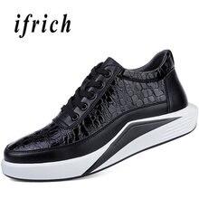 a160fac42 Homens Rendas Até sapatos de Marca Calçados casuais de Sola Grossa Sapatos  De Couro Homens Sapatos De Grife Homens de Alta Quali.