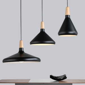 Image 2 - Modern Simple pendant lamps E27 Aluminum wood pendant lights italian lamp Home restaurant counter decoration lighting