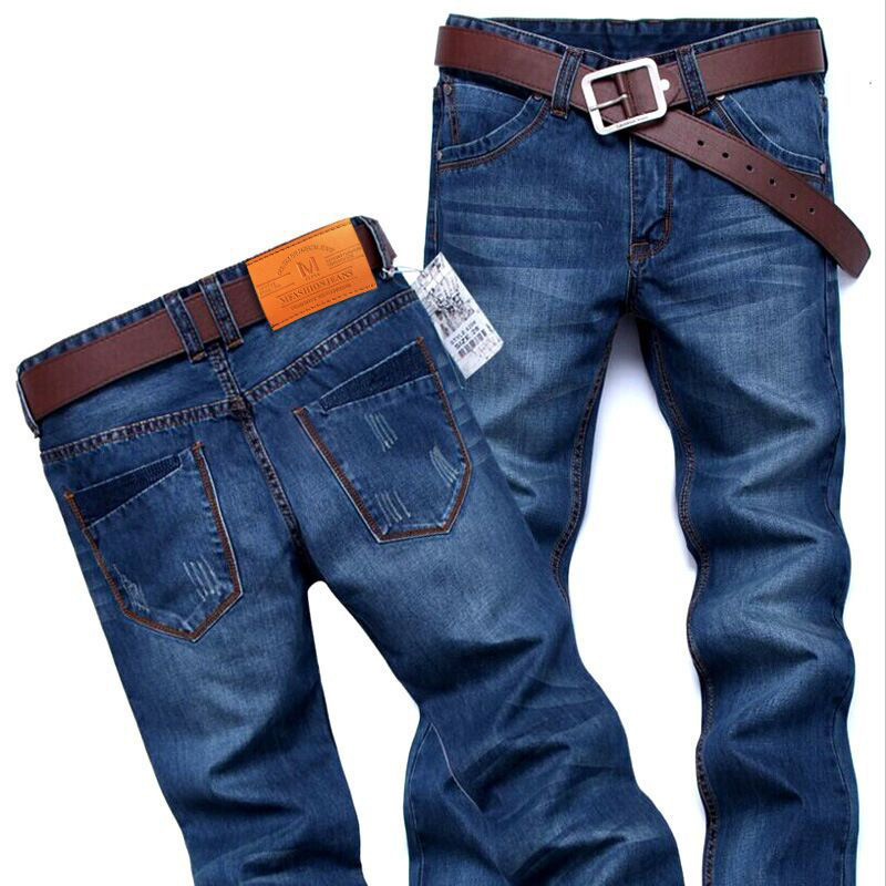 Denim Skinny Trousers Cotton Classic Straight Jeans  3