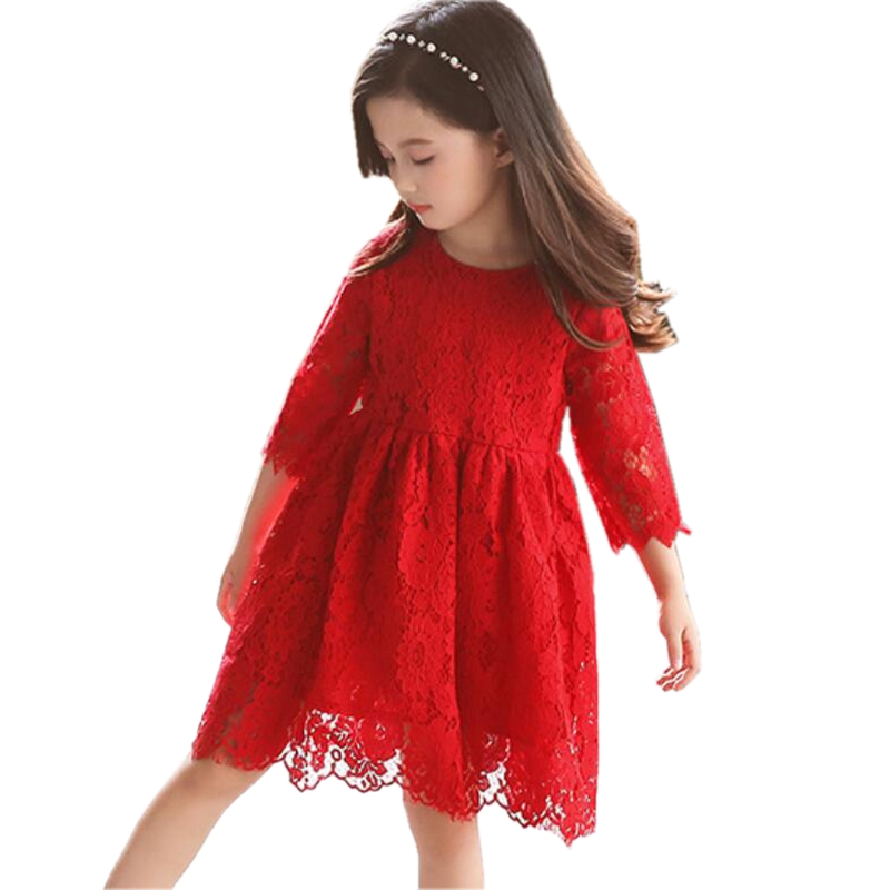 ed04990fbd1c Detail Feedback Questions about 2018 Fall Spring Girl Lace Dress ...