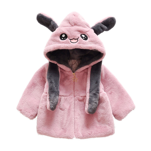 3f86acbbf 2 8 yrs little girls winter clothes thick warm hoodies cute fleece ...