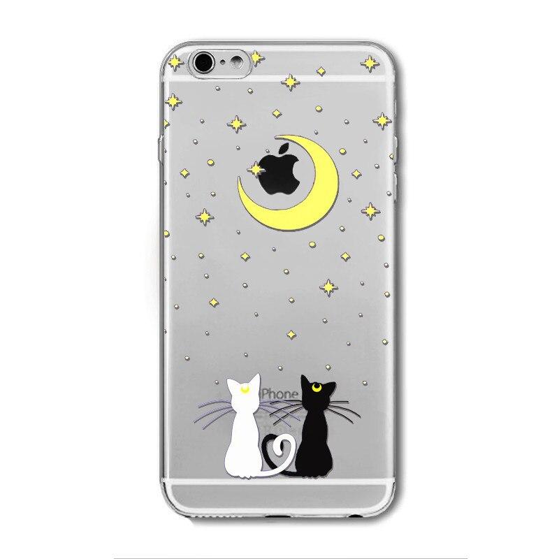 חתול חמוד עבור iPhone 6 6 4.7 אינץ אופנה הטלפון מקרה סיליקון רך לטלפון נייד תיק כיסוי celular fundas