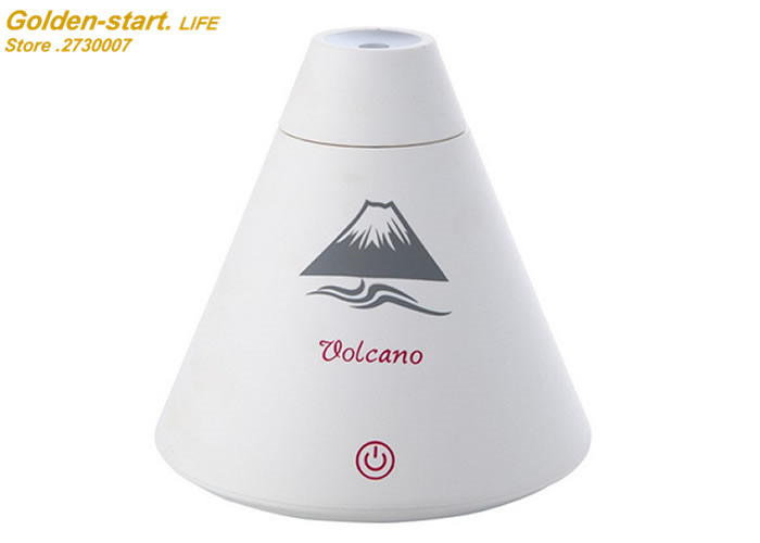 Creative Volcano Style USB Ultrasonic Humidifier With Colorful nitht Light Essential Oil Aroma Diffuser Auto Off Touch Switch volcano