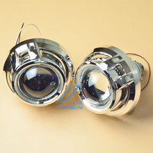 Free Shipping 3 inch WST Bifocal Projector Lens with TC H1 35W HID Bulb, Ballast, Shroud and CCFL angel eyes, Car Light Kit