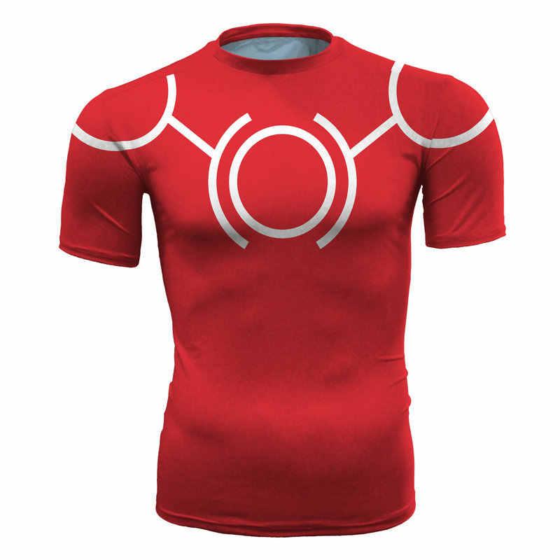 Мой герой колледж креативный рисунок спортивные лосины одежда для фитнеса рубашка для бега мужские обтягивающие рубашки Спортивная футболка