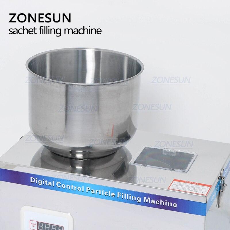 ZONESUN 2-200g maszyna do pakowania herbaty maszyna napełniająca pakująca w saszetki mogą maszyny do napełniania maszyny do napełniania granulatu niesplik