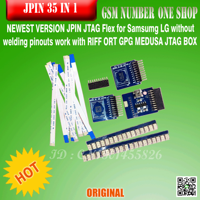 2016 VERSION JPIN JTAG Flex for LG Samsumg  without welding pinouts work with RIFF ORT GPG MEDUSA JTAG BOX free ship