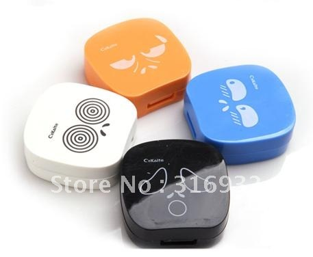New Fashion Cute expression contact lens case with mirror, 5pcs/lot