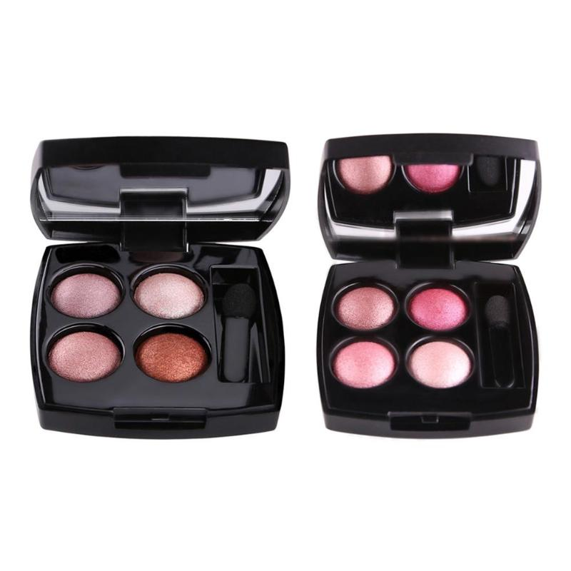 Professional Eyeshadow Palette 4 Colors Eyes Shimmer Matte Eyeshadow Makeup Light Eye Shadow Palette Shades With Brush
