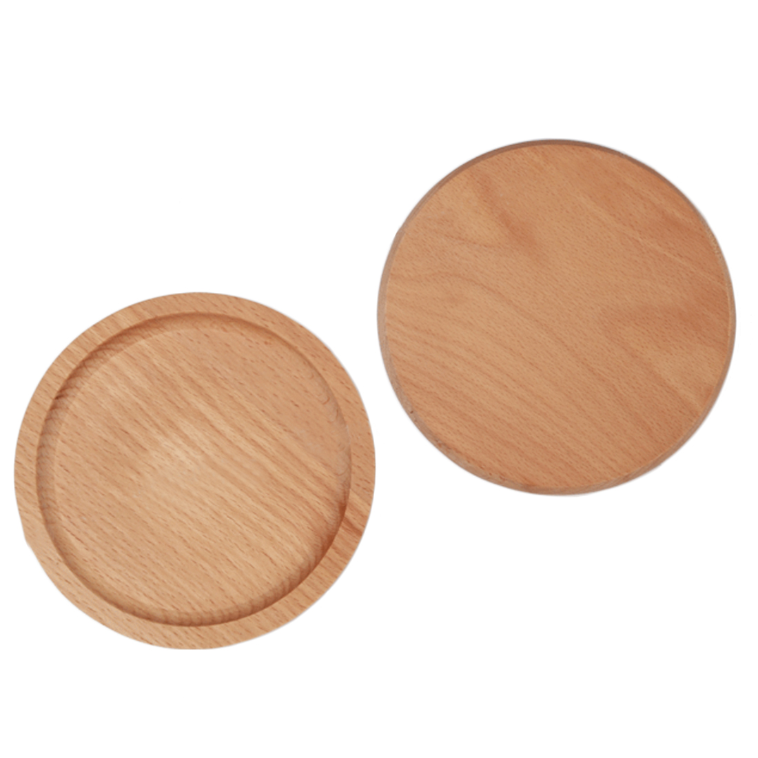 Simple Style Beech Coasters Round Solid Wood Cup Mat Placemat Heat  Resistent  Burlywood(china