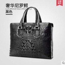 gete new Thai crocodile men handbag male business bag large capacity leather briefcase luxury male big bag