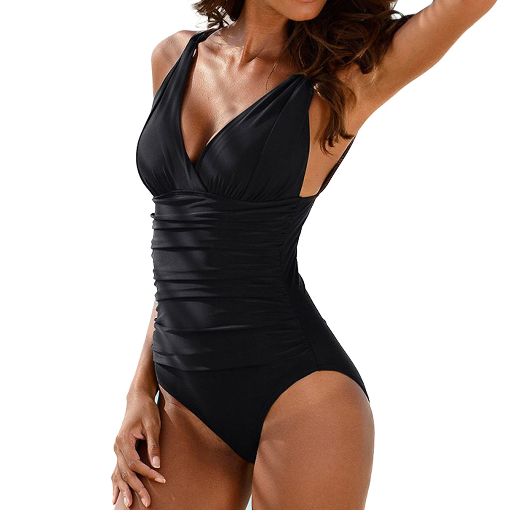 Plus Size xxxxl 2020 Swimwear Women Sexy Black One Piece Swimsuit Women Summer Sexy Sport Bathing Swimming Suit For Womens Stroj
