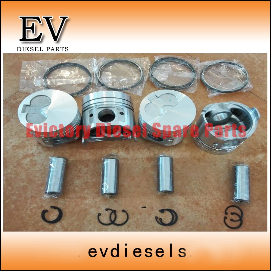 4TNE98 piston and piston ring