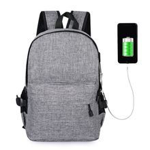 Fashion Oxford Anti-Theft Travel Backpack USB Intelligent Charging Men And Women School Laptop Bag