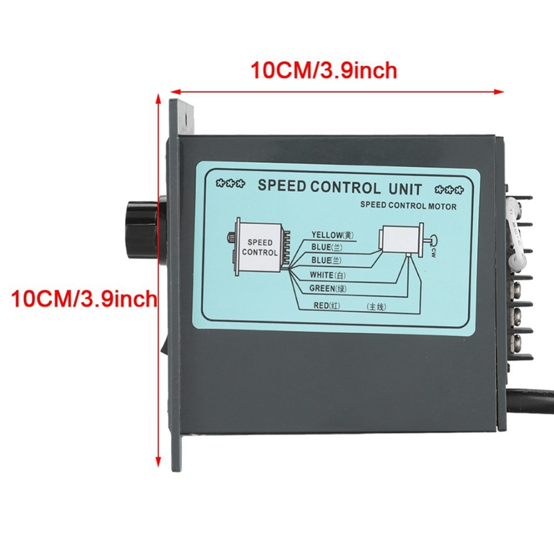 Image 4 - Ac 220V Motor Speed Controller 50Hz 250W Digital Adjustable Stepless Plc Motor Speed Controller 0 1450Rpm Speed Regulator-in AC Motor from Home Improvement