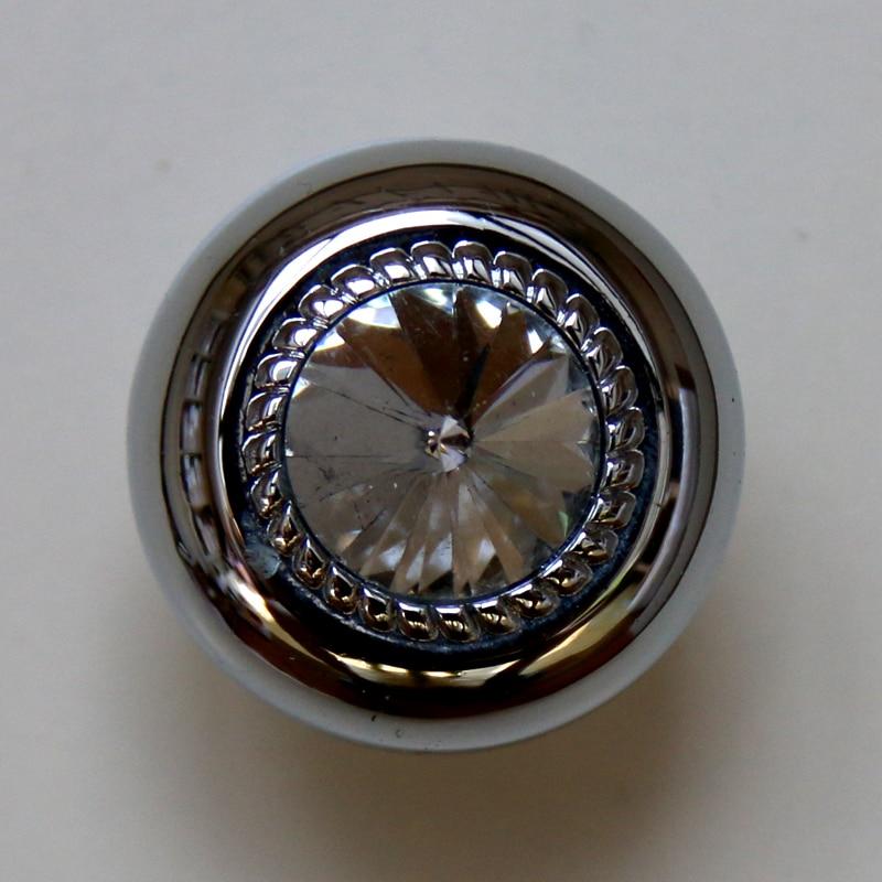 Diamond Handles Crystal Glass Zinc Alloy Drawer Knobs Furniture Cabinet  Handles Kitchen Cupboard Pulls Dresser Knob