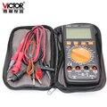VICTOR VC9808 + цифровой 3 1/2 мультиметр электрический Амперметр 20A вольтметр индуктивность тестер частоты DCV ACV DCA/R/C/L/F