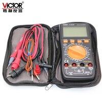 VICTOR VC9808+ Digital 3 1/2 multimeter Electrical Meter ammeter 20A voltmeter Inductance Frequency tester DCV ACV DCA/R/C/L/F