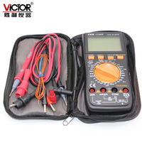 VICTOR VC9808+ Digital 3 1/2 multimeter Electrical Meter ammeter 20A voltmeter Inductance Frequency tester DCV ACV DCA/R/C/L/F