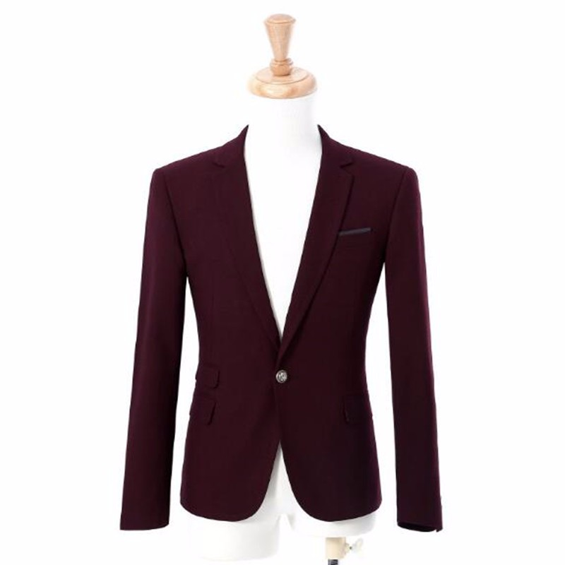 12.1New arrival men suits jacket solid color one button work business suits jacket tailor made bridegroom groomsman tuxedos jacket