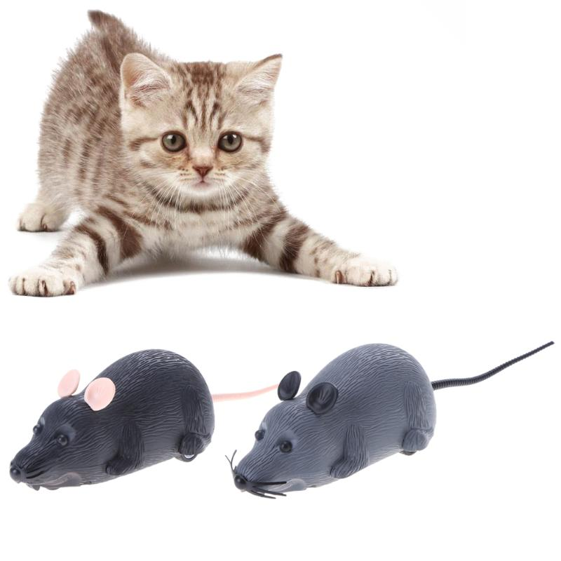 2018 New <font><b>2</b></font> Colors Funny Cat Toys Interactive Simulation <font><b>Plush</b></font> Mouse Novelty Rat Mouse Mice Toy For Pet Cat Toy Mouse