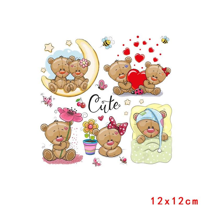 Prajna милый кролик патч теплопередача Винил утюг на передачу для одежды мультфильм значок глажка наклейки аппликация уровень - Цвет: Кофе