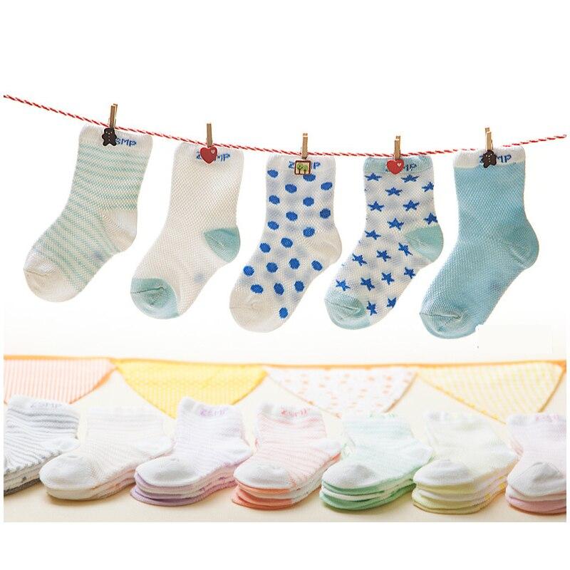 Baby Short Socks 5 Pairs / Lot Summer Thin Cotton Socks 0-24 Months 5 Assorted New Born Girls and Boys Cute Kids Socks