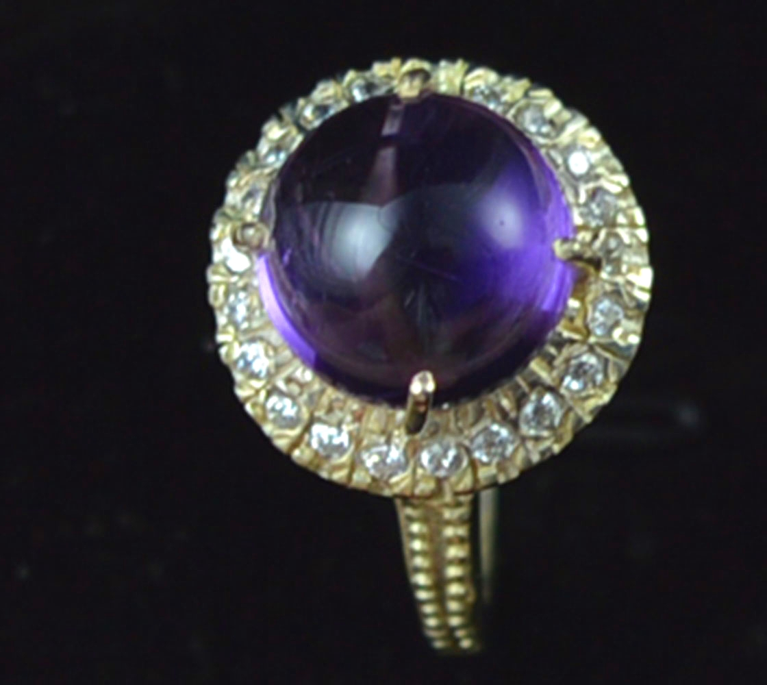 Genuine Amethyst Ring 100%  925 Sterling Silver , Size:7.25, KR0197Genuine Amethyst Ring 100%  925 Sterling Silver , Size:7.25, KR0197