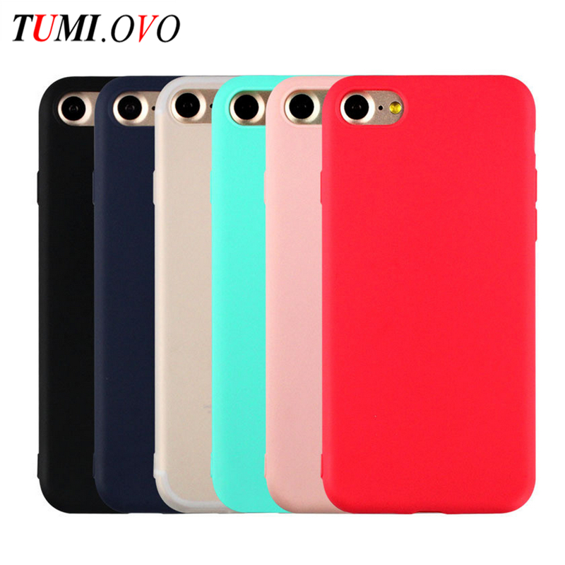 Cute Macarons Color TPU Silicone Frosted Matte Case for iPhone 7 6 6S 5 5S Soft Back Cover for iPhone 6 7 Plus Protection Shell
