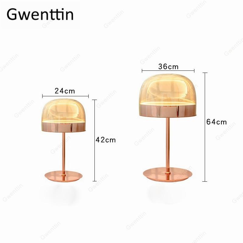Lâmpada de mesa luxo moderno cogumelo pé