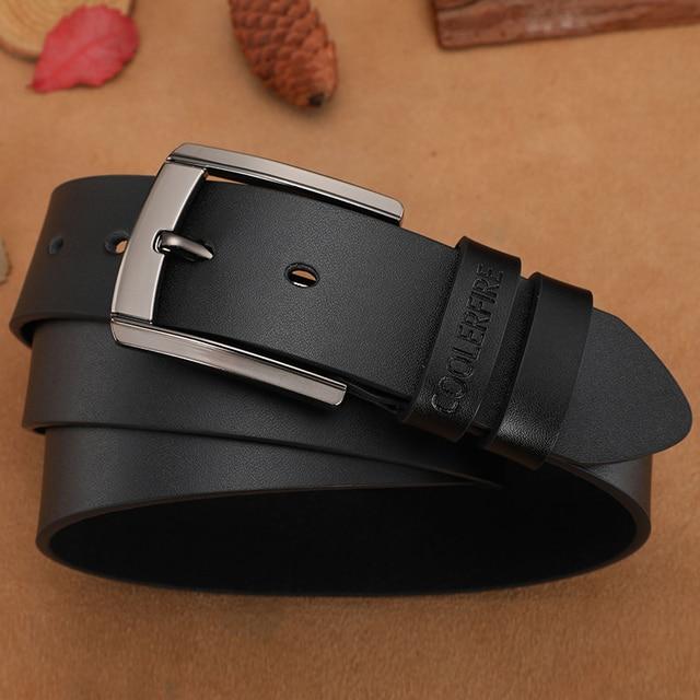 Men High Quality Genuine Leather Belt Luxury Designer Belts Fashion Strap 4