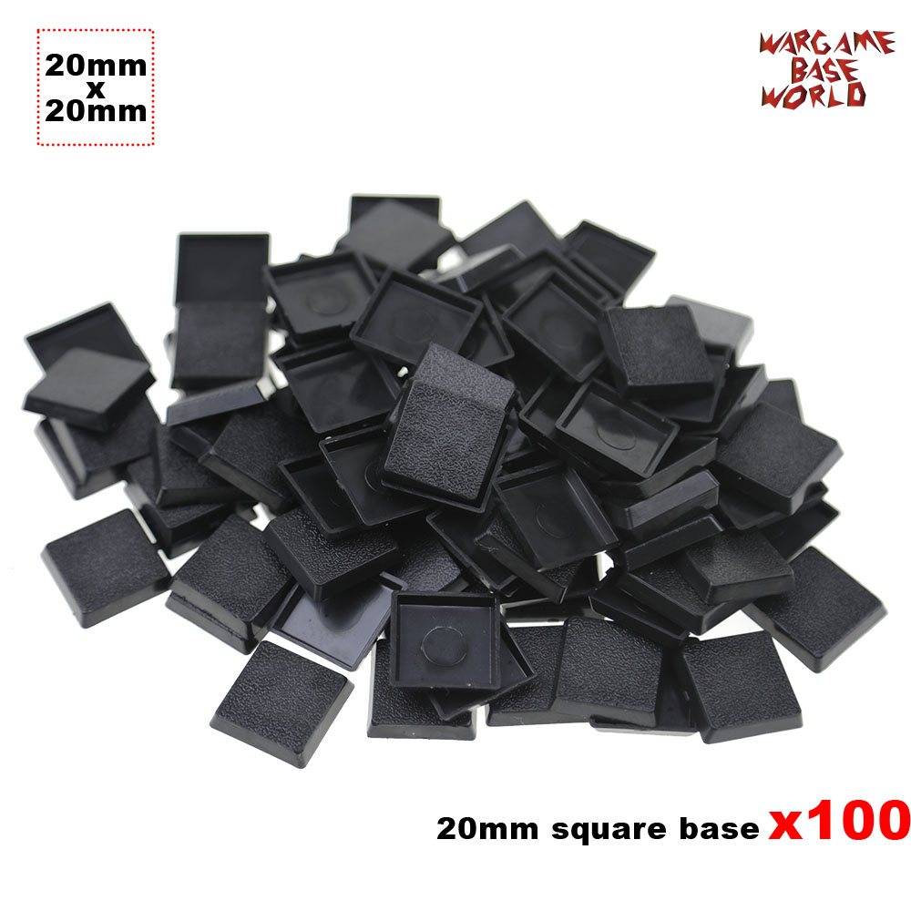 100 X 20mm Square Bases Made From Plastic For Table Games Bases For Warhamemr