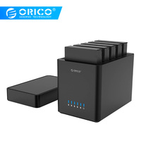 ORICO 5 Bay Magnetic type 3.5 Inch USB3.0 Hard Drive Enclosure Support 50TB Max 5Gbps UASP 12V Adapter Tool Free HDD Enclosure