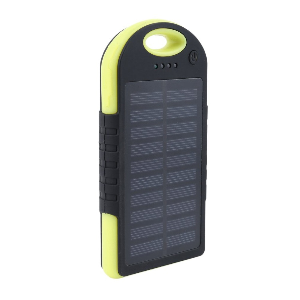 8000mAh Solar Charger Waterproof/Shockproof Dual USB External Charger Battery Power Bank with Lights for Outdoor Activities(China)
