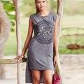 Camiseta impressão Mulheres 2017 Vetement Femme Tshirt Longo Verão camisetas Graphic Tees Tops Poleras de Mujer Kawaii Roupas Mais tamanho