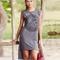 Impresión Mujeres de La Camiseta 2017 Vetement Femme Larga Camiseta de Verano camisetas Gráficas Tees Tops Poleras de mujer Kawaii Ropa Plus tamaño