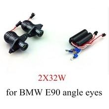 new 1 Set for BMW E90 E91 Angel Eyes 10WX2 LED Car Auto Headlight kit Marker 2 pieces high quality