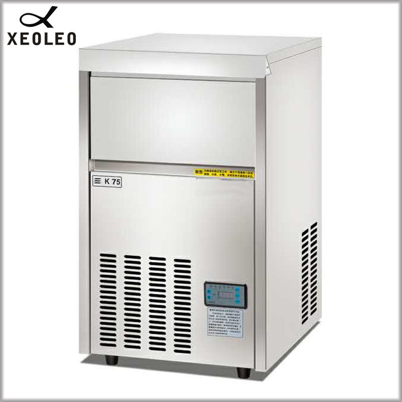 XEOLEO Square Ice maker 65&75KG/24h Commerical Ice machine Air-cool Cube Ice make machine Stainless steel R22/R404 520W