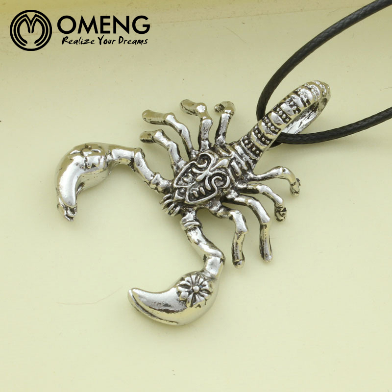 Omeng scorpion pendants necklaces gold silver stainless steel omeng scorpion pendants necklaces gold silver stainless steel necklace animal scorpions men jewelry scorpio insect pendantxl819 in chain necklaces from mozeypictures Images