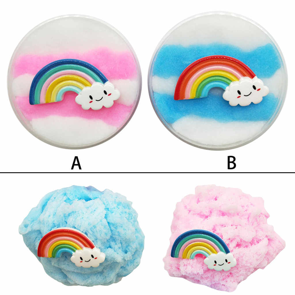 60mL rainbow cloud new drawing mud thousand silk mud decompression toy beautiful rainbow color mixed cloud mud putty kids clay