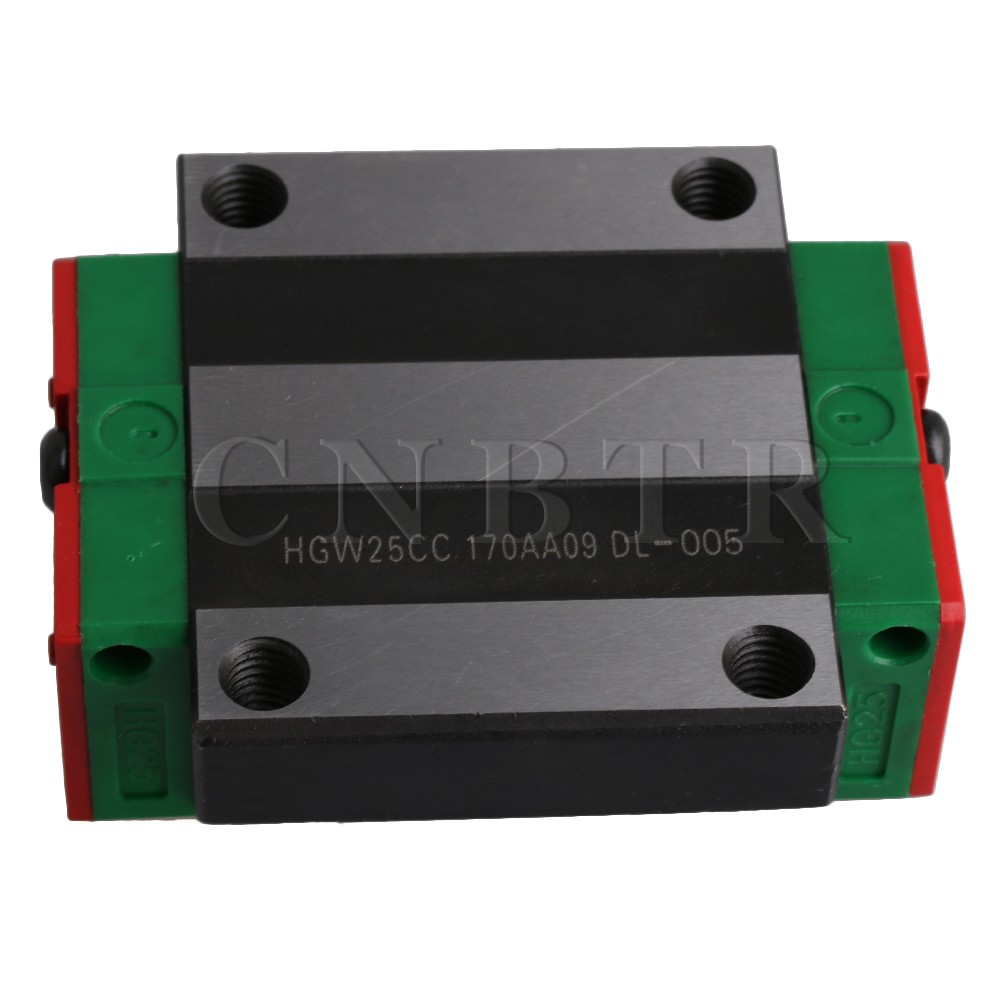 CNBTR HGW25CC Bearing Steel Flange Type Linear Guide Rail Sliding Block Carriage Rail Block Slider for HR25 Linear Rail Guideway цена