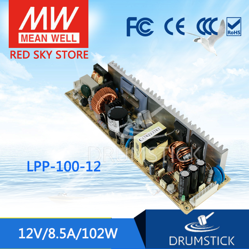 Advantages MEAN WELL LPP-100-12 12V 8.4A meanwell LPP-100 12V 100.8W Single Output with PFC Function original mean well lpp 100 24 single output 4 2a 100w 24v meanwell power supply with active pfc open frame lpp 100