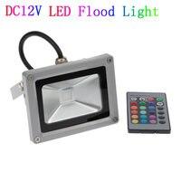 12V DC IP65 Waterproof LED Flood Light 10w 20w 30w 50w RGB Remote Control Outdoor Lighting