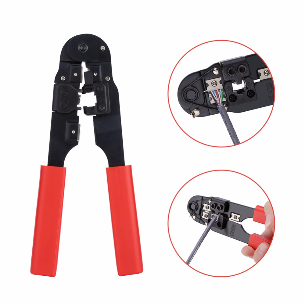 Crimping Cutting Striping Networking Wire Tool Kit Crimper Stripper For 8P8C Rj45